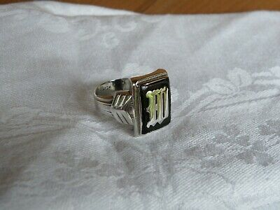 OSTBY BARTON 100 Years Old E W M Signet Sterling MEN RING Sz12. MINT NOT SCRAP