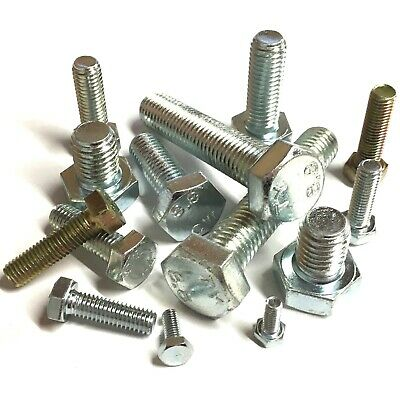 1/4 5/16 3/8 7/16 1/2 Unf Hexagon Setscrews Zinc Plated Fully Threaded Hex Bolts