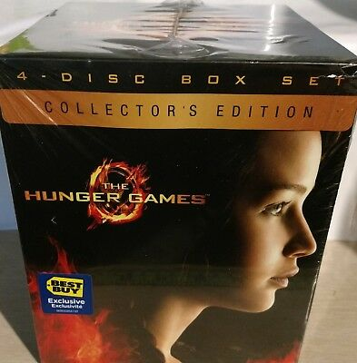 The Hunger Games Collector's Edition Blu-Ray 4 Disc + Digital Copy NEW