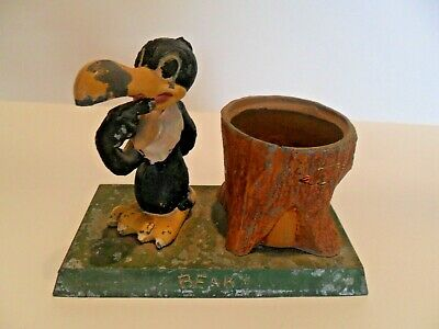 VINTAGE Beaky Buzzard with Tree Trunk