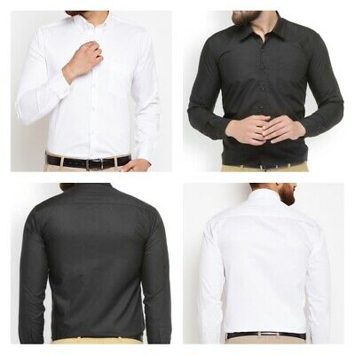Mens Formal Luxury Casual Slim Fit Shirt Long Sleeve Business Shirts Tops Collar