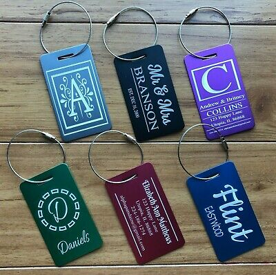 Personalized Luggage Tags Customized Engraved Travel Accessories Sports Bags IDs
