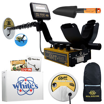 """Whites Goldmaster GMT Anodized Gold Metal Detector Summer Bundle with 6"""" Coil"""