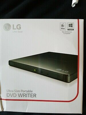 LG ULTRA SLIM Portable DVD Write with M-Disc Support GP55EX70 Black