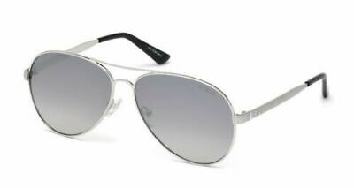 Guess Sunglasses Woman Silver Aviator GU7501/s 58-14-140*3