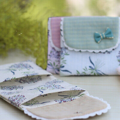 Foldable Button Floral Print Sanitary Napkins Bag Menstrual Pads Pouch Carrying