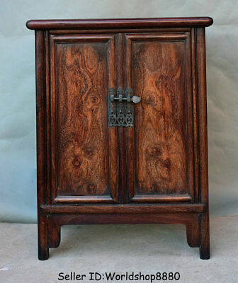 "28.8""Antique Old China Huanghuali Wood Dynasty Palace Cupboard Cabinet Furniture"