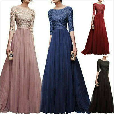 Party Wedding Women Long Dress Ball Cocktail Gown Formal Evening Prom Bridesmaid