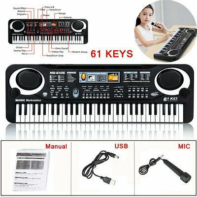 61 Keys Digital Music Electronic Keyboard Electric Piano Organ & Microphone Gift