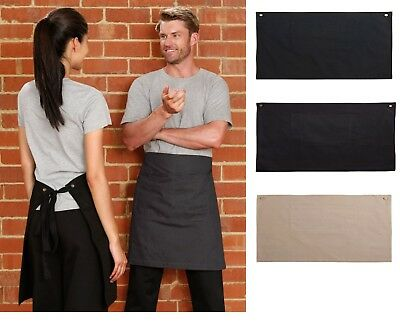 New Mens Womens Fitzroy Half Waist Apron Kitchen Waiter Chef Cook Work Aprons