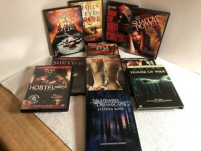 Pre-Owned - Lot Of Horror - Thriller - Slasher Movies On DVD - Many Are Un-Rated