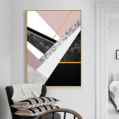 KF_ Nordic Geometric Marble Painting Decorative Home Wall Art Decor Posters La