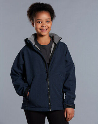 New Kids Boys Girls Softshell Hooded Jacket Coat Spray Jumper Winter Overcoat