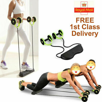 Portable Ab Wheel Fitness Abdominal Roller Leg Exercise Gym ABS Workout Trainer