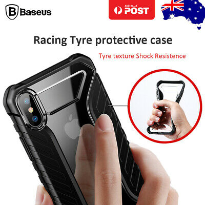 Baseus Tyre Texture Protect Hybrid Soft Shockproof Cover for iPhone X XR XS Max