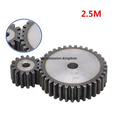2.5M10T-30T 45# Steel Spur Gear Metal Module 2.5 Moter Gear Wheel 10-30 Tooth