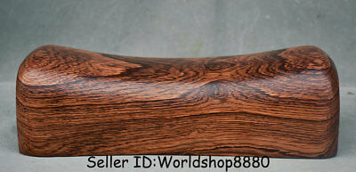 """9"""" Collect Rare Old China Huanghuali Wood Dynasty Palace weeping willow pillow"""