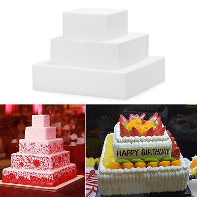 4/6/8/ inch Square Foam Cake Mold Kitchen Party DIY Practice Model Cake Dummy