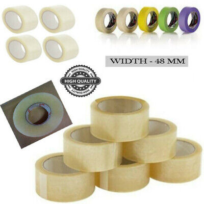 48mm x 250m Extra Long CLEAR Parcel Sealing Packing Tape Clear tape Qty 36 Rolls