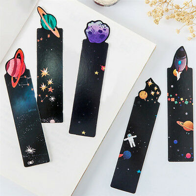 FT- 30Pcs Planet Series Paper Bookmark Stationery Message Card School Supplies H