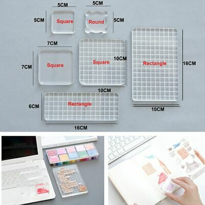 DIY Crafts Making Essential Stamping Block Handle Photo Album Acrylic Stamp
