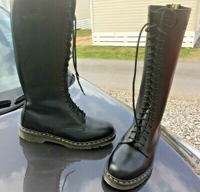 Dr Martens 1420 black smooth leather boots UK 10 EU 45 Made in England