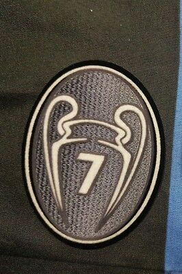 patch toppa TROPHY 7 TROFEO CHAMPIONS LEAGUE LEXTRA MILAN COPPA CAMPIONI GRIGIO