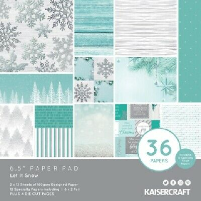 "Kaisercraft 'LET IT SNOW' 6.5"" Paper Pad Christmas/Snowflakes KAISER PP1074"
