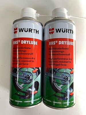 *****2 X 400Ml Würth Hhs Drylube Wax Based Adhesive Lubricant*****