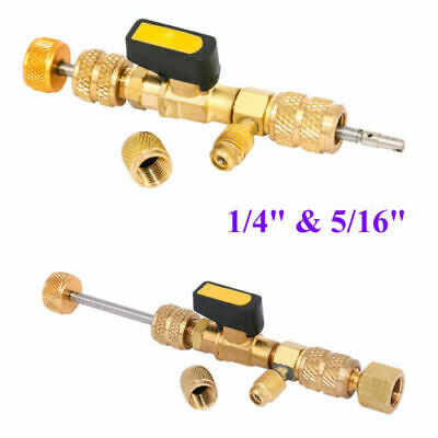 """AC Schrader Valve Core HVAC Tool Remover Dual Size 1/4"""" and 5/16"""" Port Installer"""