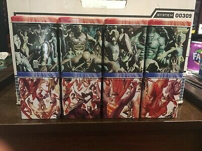 Marvel DC VS System The avengers Justice league of america x8 tin lot Alex Ross