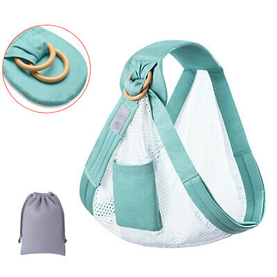 Breastfeeding Sling Dual Use Side Lightweight Baby Wrap Carrier Adjustable Ring