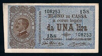 ITALY • 1914 (August) • 1 Lira • KP 36b • VF