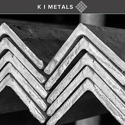 Mild Steel Angle Iron Bar Sizes 20mm to 100mm Multiple Length Thickness Quantity