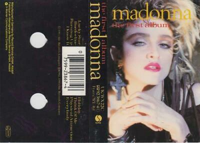 Madonna The First Album UK cassette album WX22C WARNER 1985