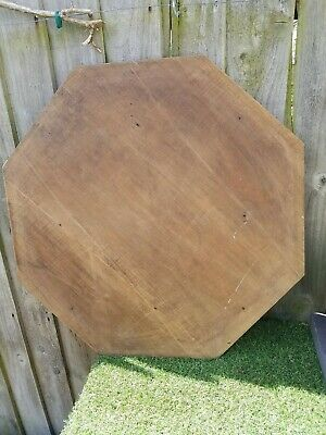 Antique Oak eight sided table top
