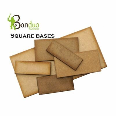 Square Bases for warhammer 40k, wargames, table top games .MDF wood