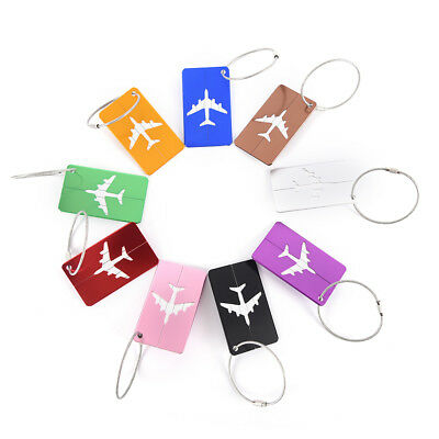 Travel Luggage Tag Aluminium Alloy Suitcase Baggage  Name Address ID Label PDH
