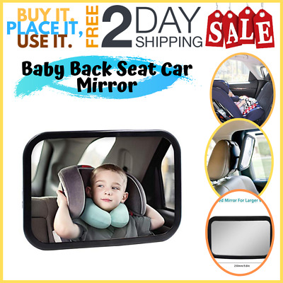 SBE Baby Back Seat Car Mirror View Rear Facing Hippih No Headrest Expanded View