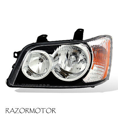 2001-2003 Driver Side Replacement Black Headlight For Toyota Highlander W/ Bulb