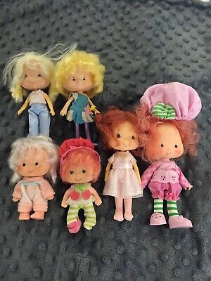 Lot Vintage 1979 1980 American Greetings Strawberry Shortcake Dolls Herself Elf