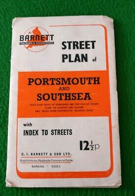 Barnett Street Plan Of Portsmouth And Southsea With Index To Streets Portsmouth