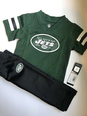 NWT Jets Football Toddler Baby Jersey Shirt Top Pants 12 Months