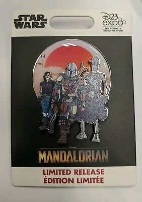 NEW 2019 Disney D23 Expo Star Wars The Mandalorian Group Pin LR IN HAND