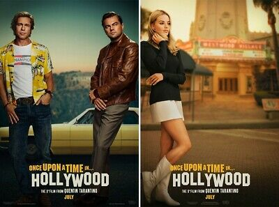 "Once Upon a Time in Hollywood (2019) 11""x17"" Authentic Movie Mini Poster! 2-pack"