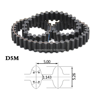 D5M D3M Synchronous Timing Belt Width 10/15/20/25mm Double-sided Toothed Belts