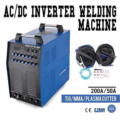Inverter Welder WIG-200P Pulse - HF TIG MMA AC/DC Reliable For Aluminium Metal