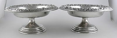 Sterling S. Kirk & Son REPOUSSE 409A candy/nut dishes (pair)