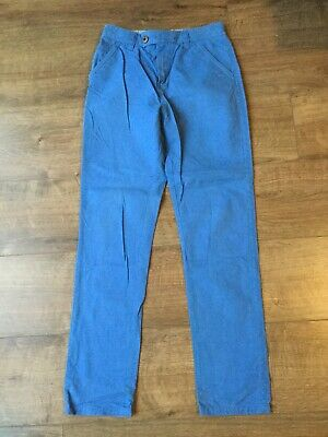 Next Boy's Blue Chino Trousers - Adjustable Waist - Age 12 Years