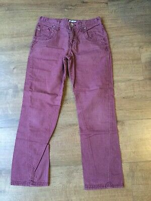 M&S Boy's Berry Coloured Jeans - Adjustable Waist - Age 11 Years